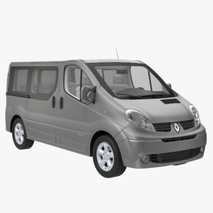 3d model renault trafic 2013 simple