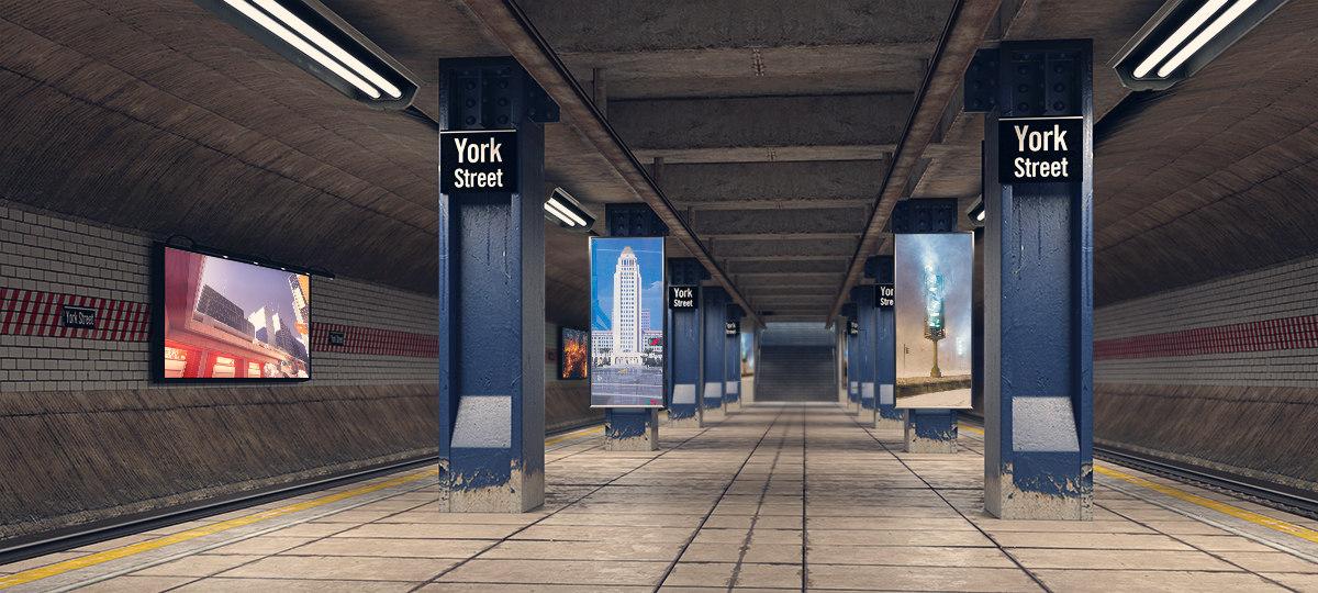subway station 3d model