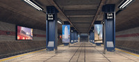 subway station 3d model