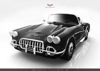 corvette c1 1958 obj