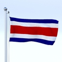Costa Rica flag 3D models