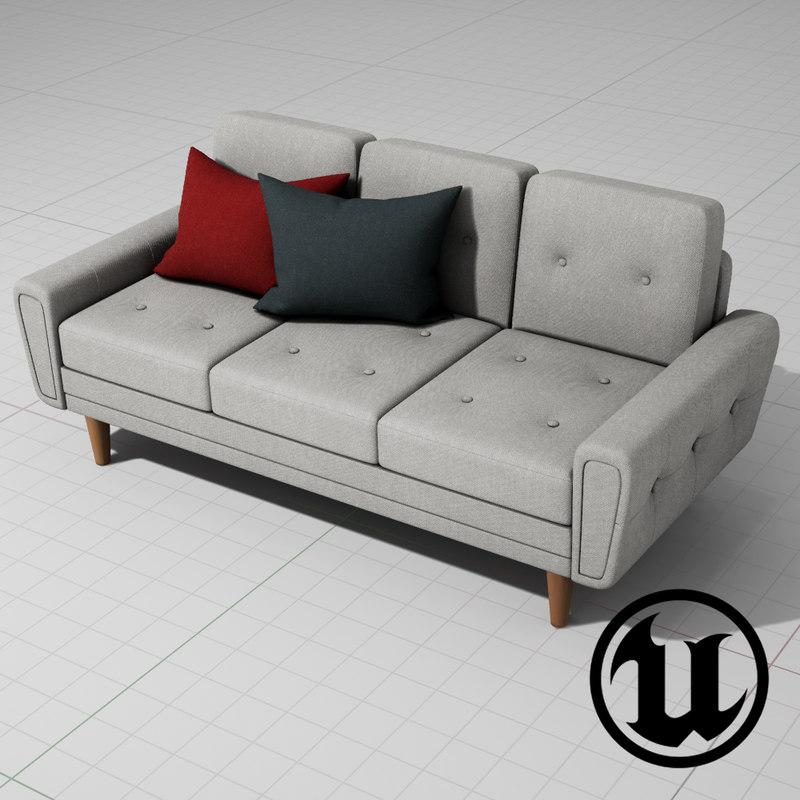 unreal harvey sofa classic 3d x