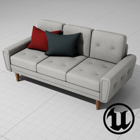 unreal harvey sofa classic 3d x