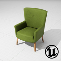 3d unreal love chair camphill model