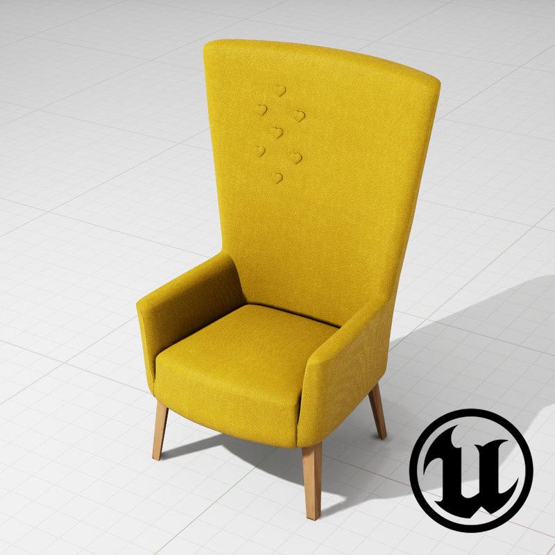 x unreal chair steel cut