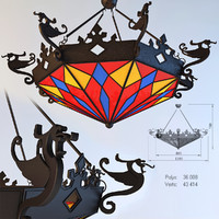 3d model forged chandeliers dragons