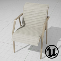 3d unreal dedon chair ue4