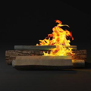 3d model bonfire camp