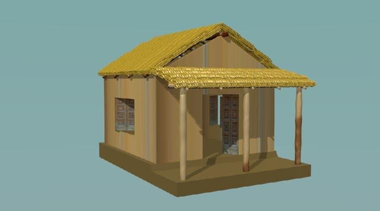 3d wooden cottage