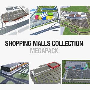 3d shopping malls model