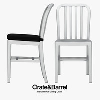 Crate & Barrel - Delta Metal Dining Chair