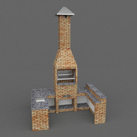 3d grill barbecue model