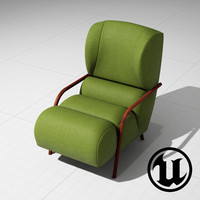 unreal papa chair ue4 3d model