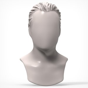 3d model man hairstyle