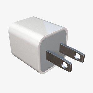 3d model ac power adapter