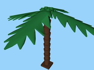 3ds lego palm tree