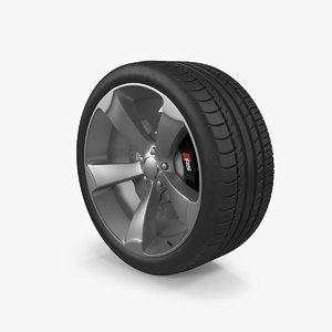 audi rs wheel tire 3d model