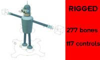 free rig bender futurama 3d model