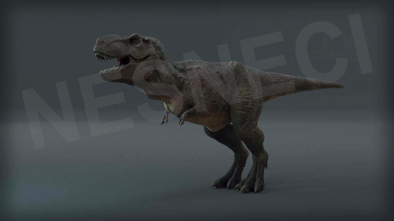 3d model trex animation realistic