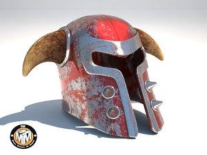 3d medieval helmet model