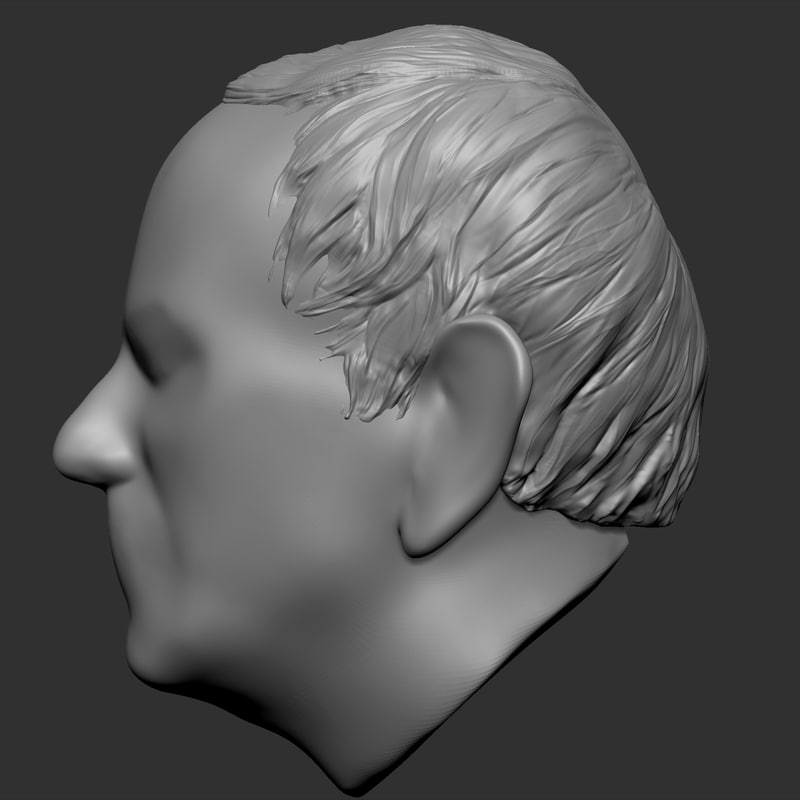 3d hairstyle old man model