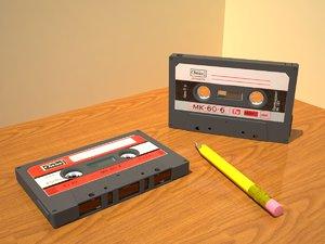 compact cassettes 3d model