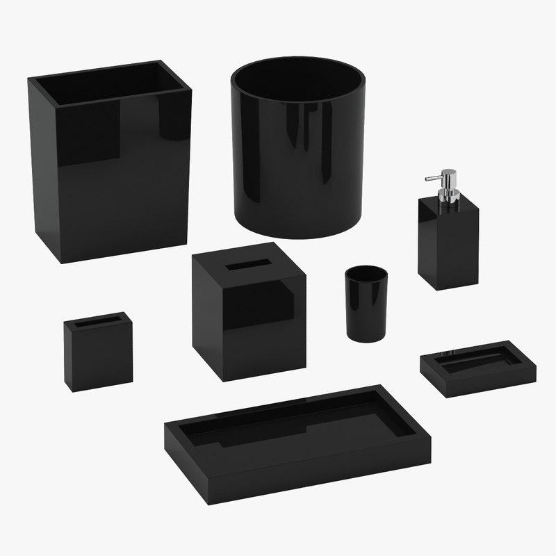 3d model bath accessories 01