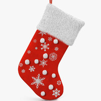 3d christmas sock 2 fur