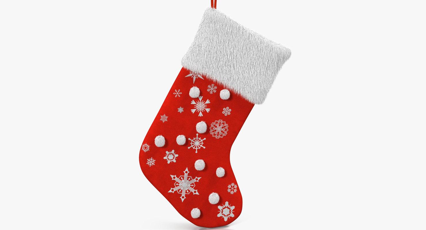 3d christmas sock 2 fur