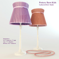 3d table lamp gathered bow model