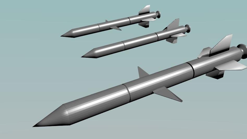 3d missile set