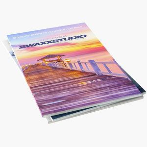 3d model of magazines colors info