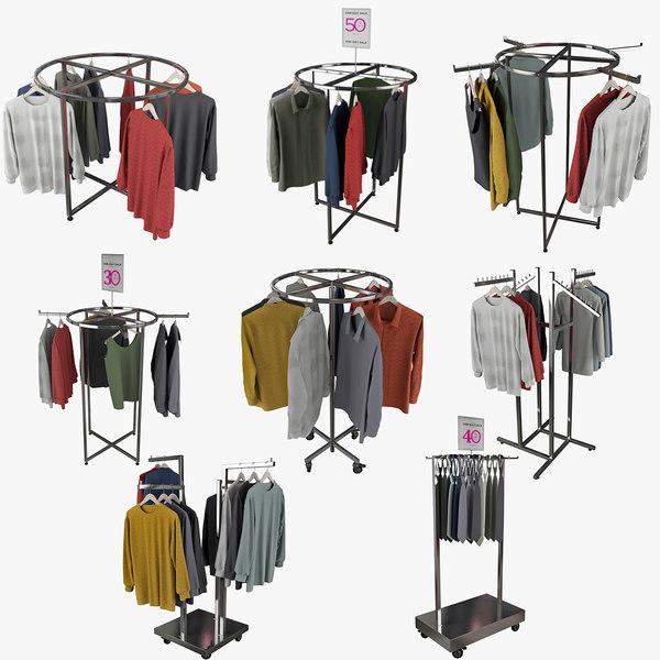 obj clothing rack display