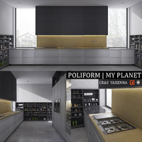 3d max kitchen varenna planet
