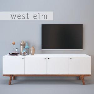 modernism media console 3d model