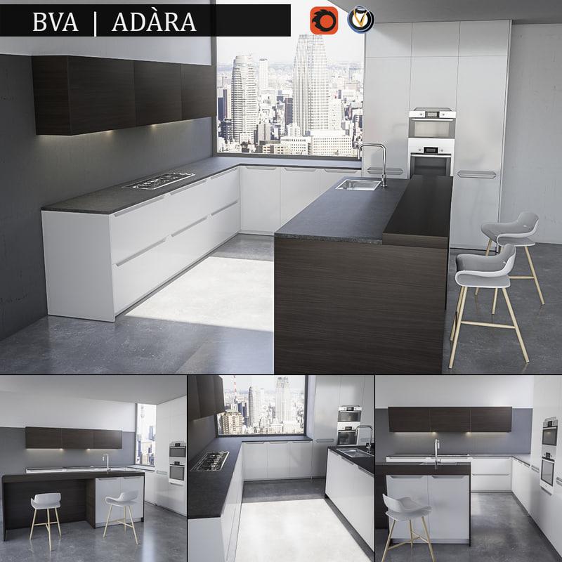 3d model of kitchen bva adara
