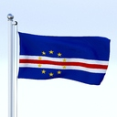 Cape Verde flag 3D models
