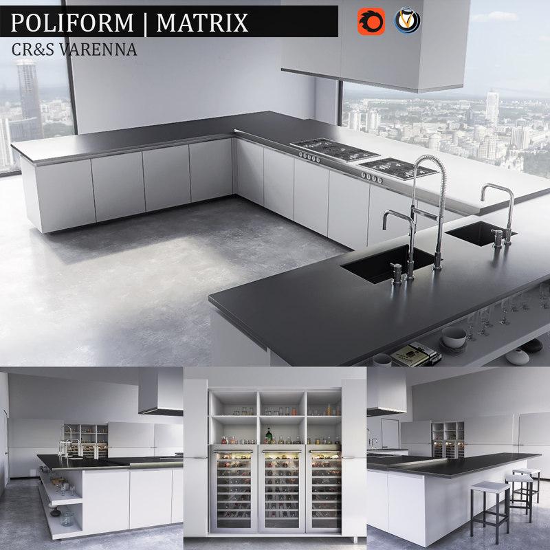 3d max kitchen varenna matrix