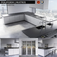 3d model kitchen varenna matrix