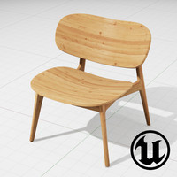 3d model unreal plc lounge chair
