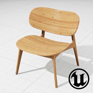 3d model unreal plc lounge chair