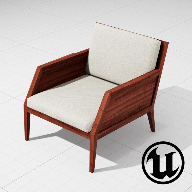 unreal raffa chair ue4 3d model