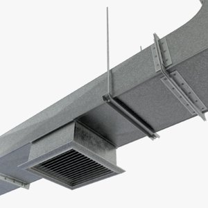 3ds max modular set vent duct