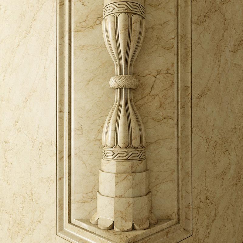 column kum saatleri 3d model