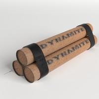 dynamite pack 3d model