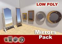 3d mirrors interior scene model