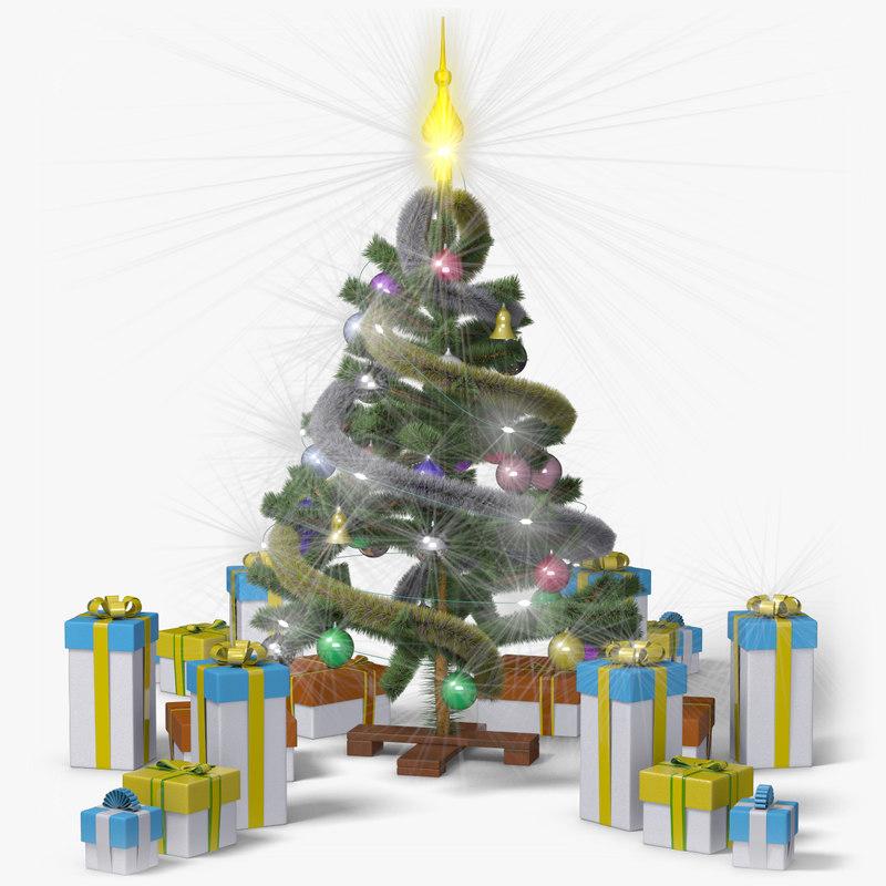 christmas tree classic 3d max