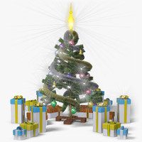 christmas tree classic 3d max
