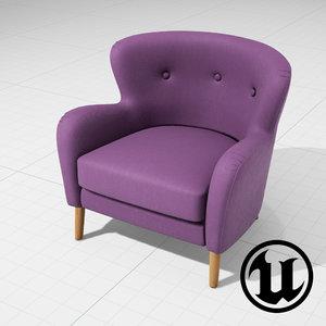 3ds unreal wilbur armchair ue4