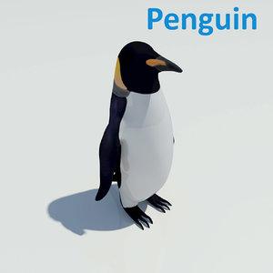 antartica penguin animal 3d model